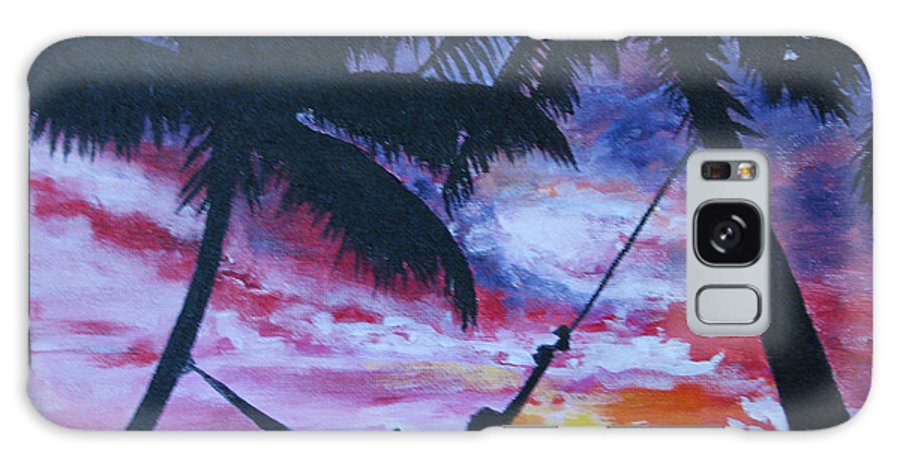 Relaxation Galaxy S8 Case featuring the painting Relax by Nancie Johnson