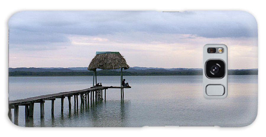 Guatemala Galaxy S8 Case featuring the photograph Relaxing On The Pier Lake Peten Itza Guatemala by John Mitchell