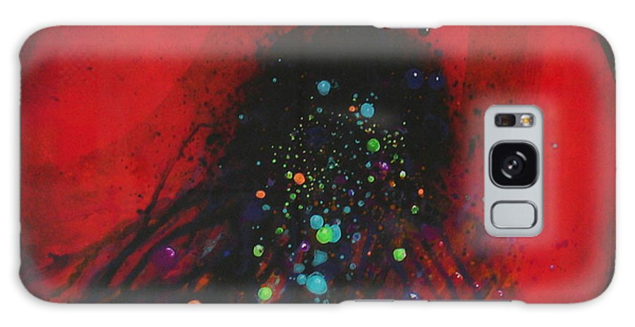 Red Circle Galaxy S8 Case featuring the painting Release by Freddie Lieberman
