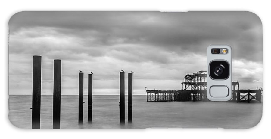 Clouds Galaxy S8 Case featuring the photograph Remains Of The West Pier In Brighton by Semmick Photo