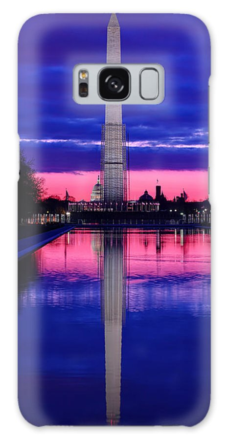 Metro Galaxy S8 Case featuring the photograph Repairing The Monument I by Metro DC Photography
