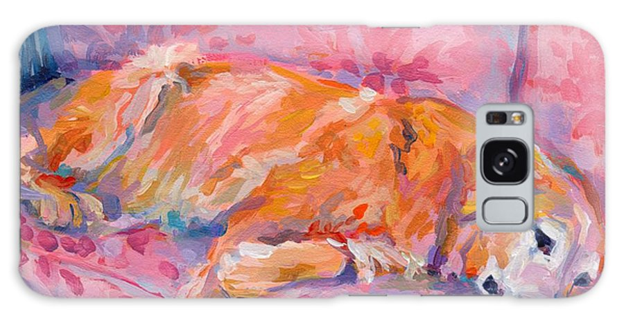 Golden Retriever Galaxy S8 Case featuring the painting Repose by Kimberly Santini