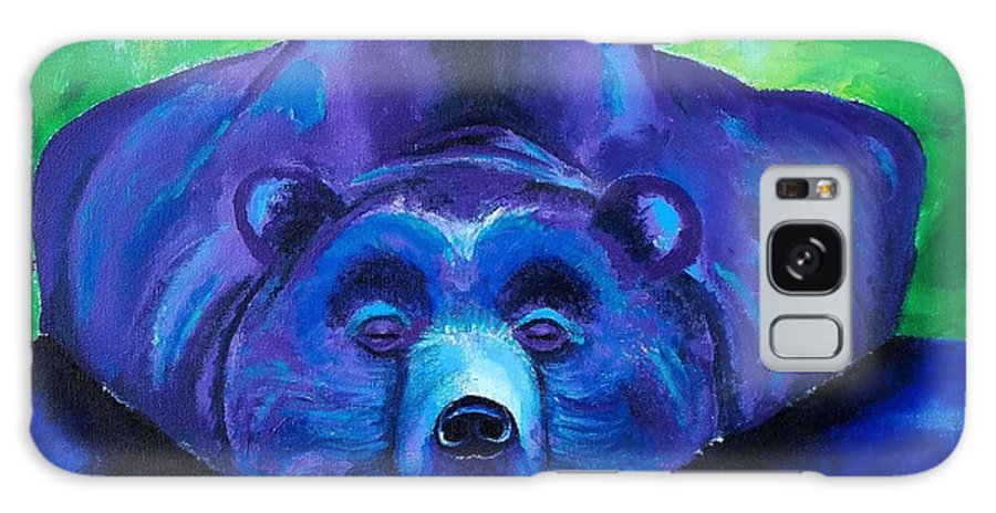 Bear Galaxy S8 Case featuring the painting Rest And Replenish by Stephanie Estrin