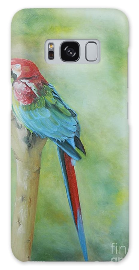 Bird Galaxy S8 Case featuring the painting Resting by Kenneth Harris