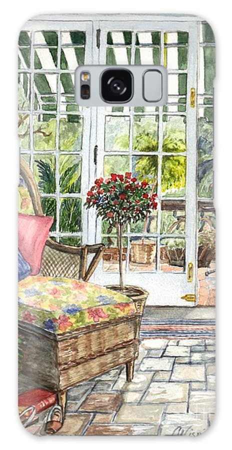 Scenery Galaxy S8 Case featuring the painting Resting On The Lanai Part 1 by Carol Wisniewski