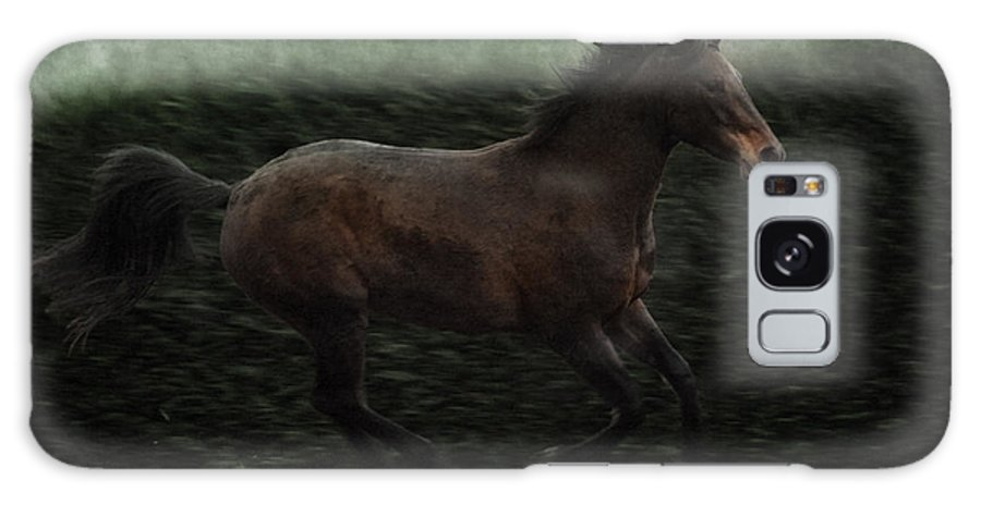 Horse Galaxy S8 Case featuring the photograph Retro Horse by Angel Ciesniarska