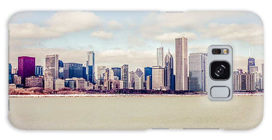 America Galaxy S8 Case featuring the photograph Retro Panorama Chicago Skyline Picture by Paul Velgos