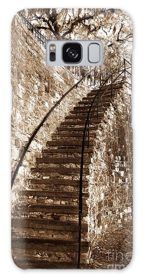 Retro Stairs In Savannah Galaxy S8 Case featuring the photograph Retro Stairs In Savannah by John Rizzuto