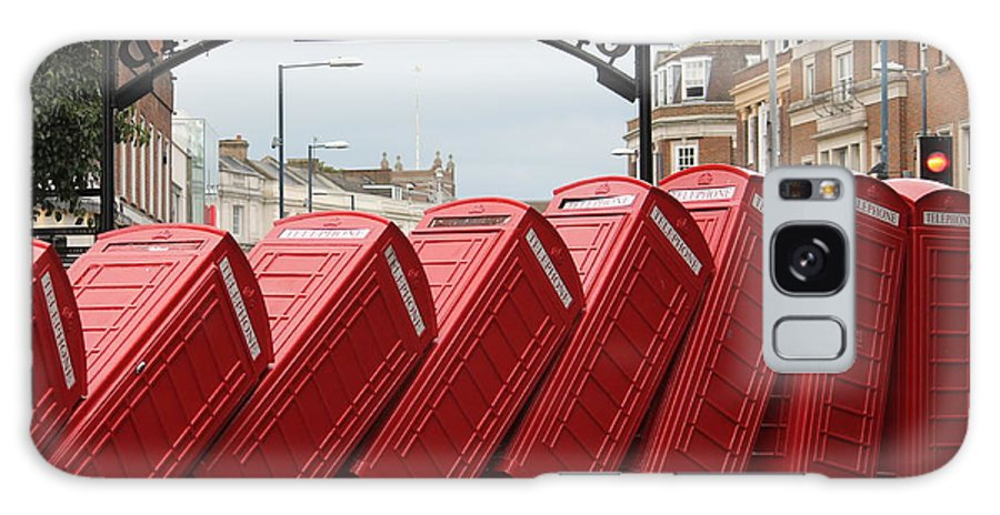 Retro Galaxy S8 Case featuring the photograph Retro Telephone Boxes by Corinna Hardware