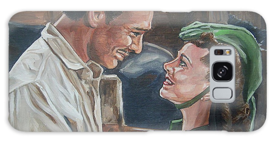 Gone With The Wind Galaxy S8 Case featuring the painting Rhett And Scarlett by Bryan Bustard