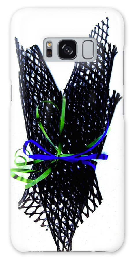 Modern Galaxy S8 Case featuring the photograph Ribbons On Mesh by Alex Blaha