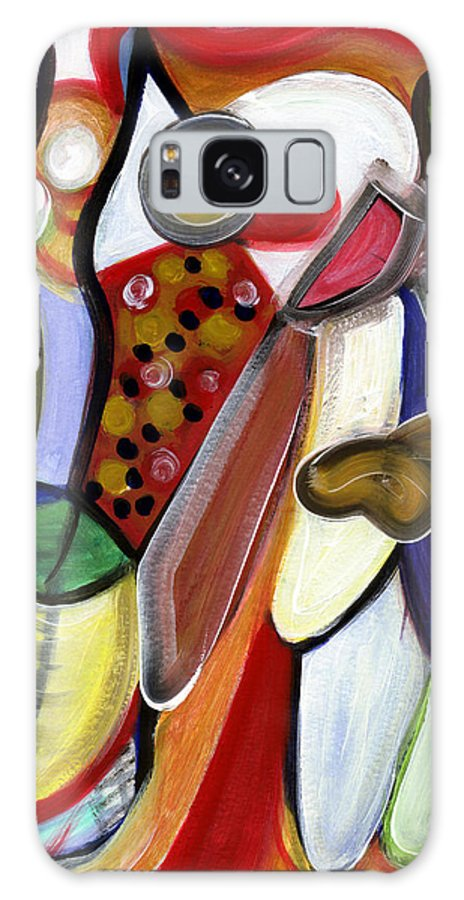 Abstract Art Galaxy S8 Case featuring the painting Rich In Character by Stephen Lucas