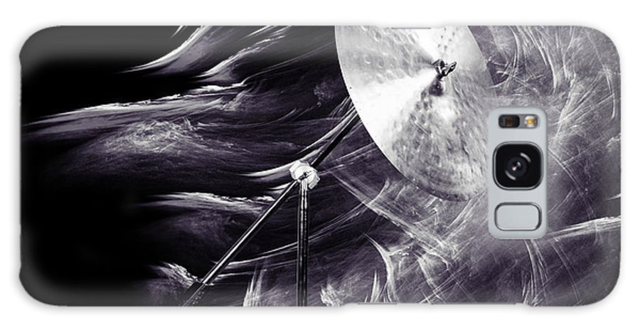 Ride Cymbal Galaxy Case featuring the photograph Ride or Suspended Cymbal in Sepia 3241.01 by M K Miller