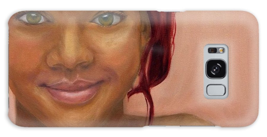 Rihanna Galaxy S8 Case featuring the painting Rihanna by Guy Elhanani