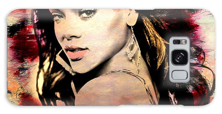 Rihanna Galaxy Case featuring the painting Rihanna by Mark Ashkenazi