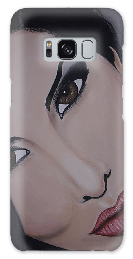 Woman Galaxy S8 Case featuring the painting Rima Fakih Miss Usa 2010 by Dean Stephens