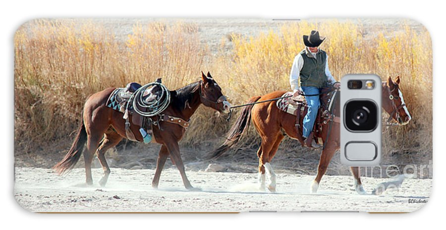 Rio Grande Galaxy S8 Case featuring the photograph Rio Grande Cowboy by Barbara Chichester