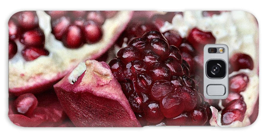 Pomegranate Galaxy S8 Case featuring the photograph Ripe Red Pomegranate Close Up by Luv Photography