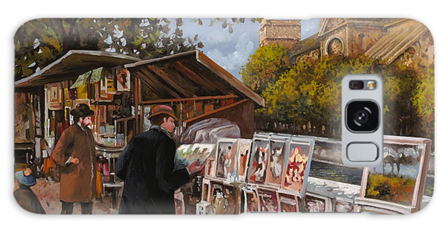 Paris Galaxy S8 Case featuring the painting Rive Gouche by Guido Borelli