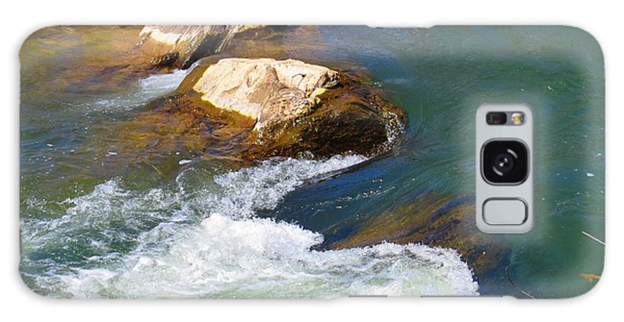 Great Falls Galaxy S8 Case featuring the photograph River Rocks by Rrrose Pix
