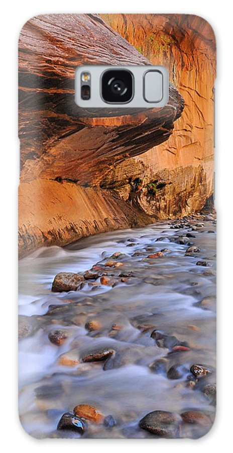 River Galaxy S8 Case featuring the photograph River Through Zion by Jim Southwell