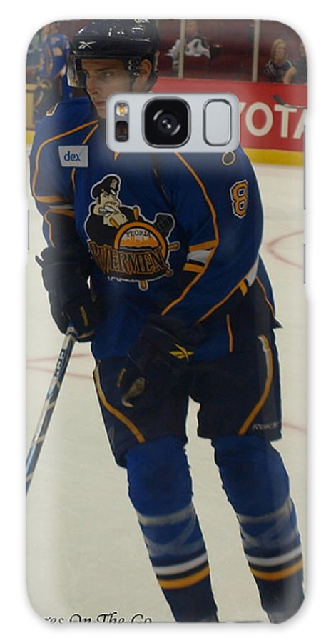 Hockey Galaxy S8 Case featuring the photograph Rivermen Number 8 by Max M Power
