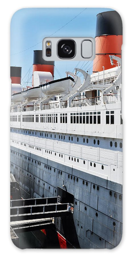 Queen Mary Galaxy S8 Case featuring the photograph Rms Queen Mary by Kyle Hanson