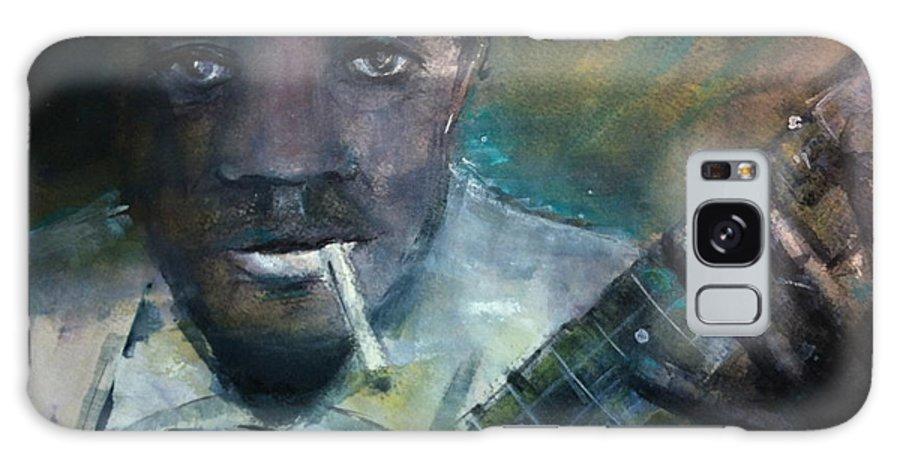Robert Johnson Paintings Galaxy S8 Case featuring the painting Robert Johnson Crossroad Blues by Susan Voigt