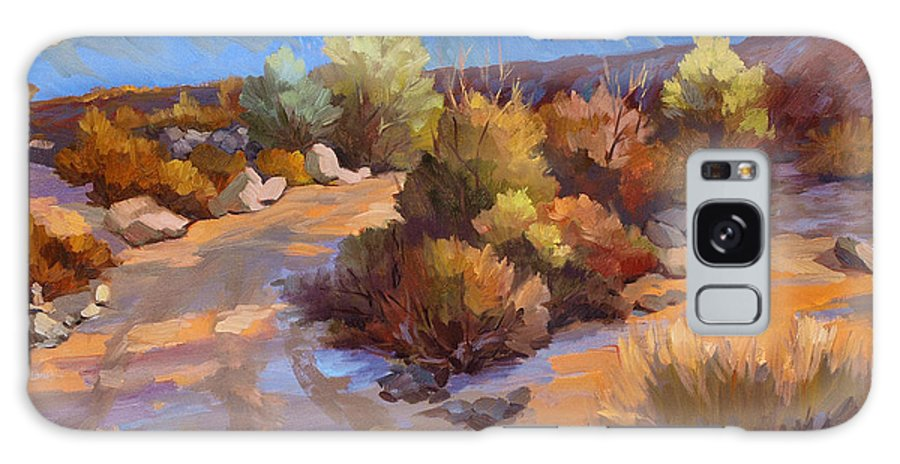 Rock Cairn At La Quinta Cove Galaxy S8 Case featuring the painting Rock Cairn At La Quinta Cove by Diane McClary