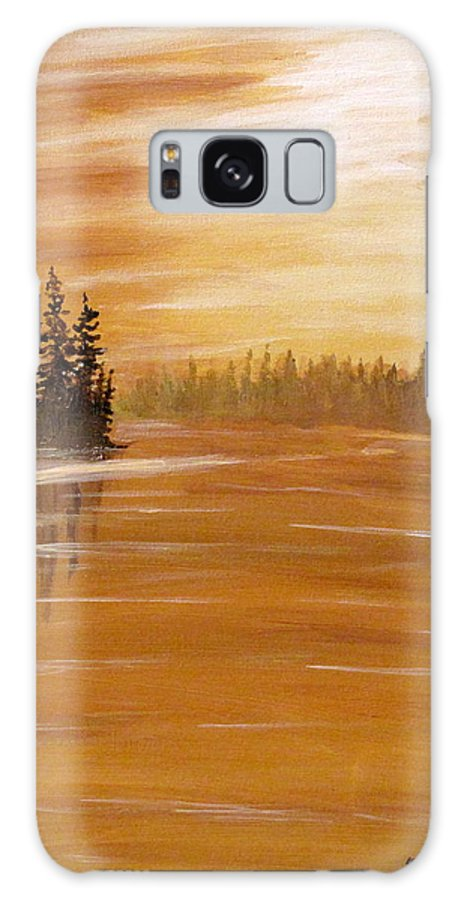 Northern Ontario Galaxy S8 Case featuring the painting Rock Lake Morning 1 by Ian MacDonald