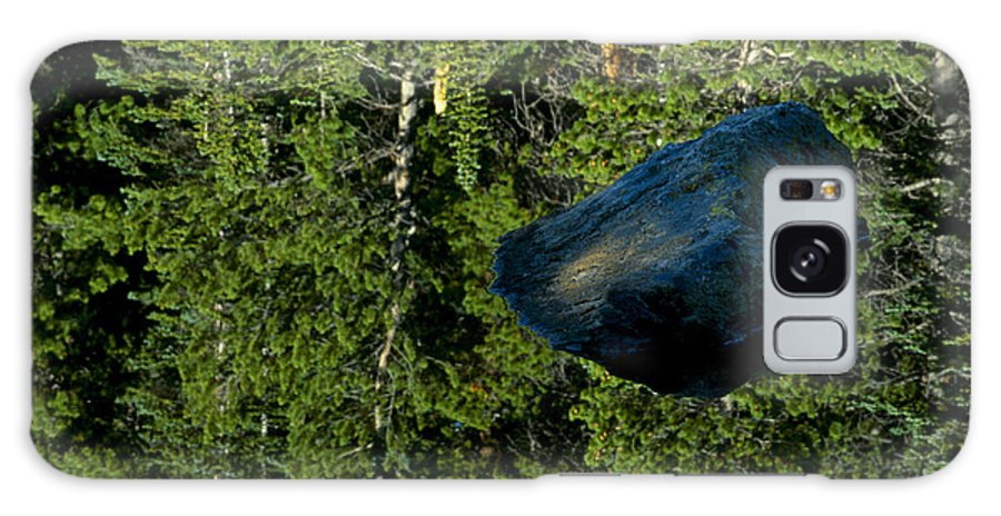 Reflection Galaxy S8 Case featuring the photograph Rock Out Of Reflecting Lake by Eric Albright