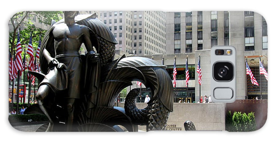 Rockefeller Plaza Galaxy S8 Case featuring the photograph Rockefeller Plaza II by Christiane Schulze Art And Photography