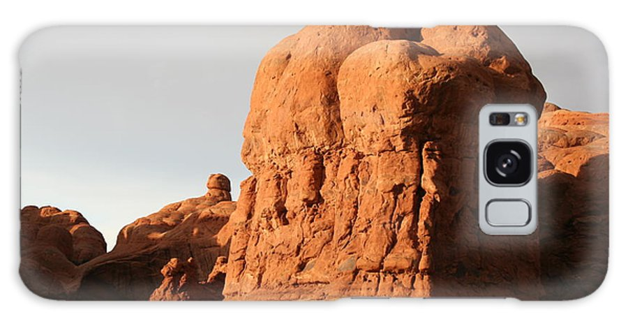 Rocks Galaxy S8 Case featuring the photograph Rockformation Arches Park by Christiane Schulze Art And Photography