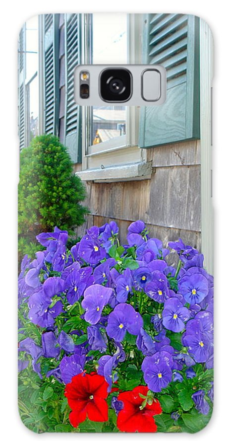 Galaxy S8 Case featuring the photograph Rockport Flowers by Elizabeth-Anne King