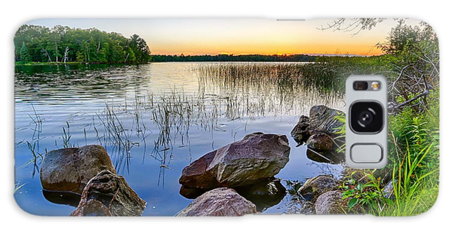 Lake Galaxy S8 Case featuring the photograph Rocks Near The Shore by Bryan Benson