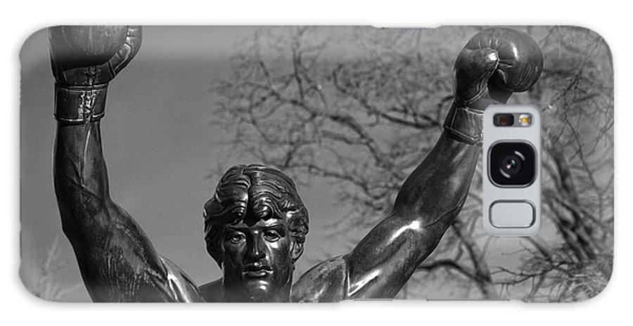 Bronze Galaxy S8 Case featuring the photograph Rocky Statue by Tom Gari Gallery-Three-Photography