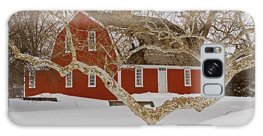 Roger Galaxy S8 Case featuring the photograph Roger Williams Cottage In Winter by Butch Lombardi