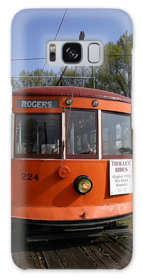 Trolley Galaxy S8 Case featuring the photograph Rogers Trolley by Nina Fosdick