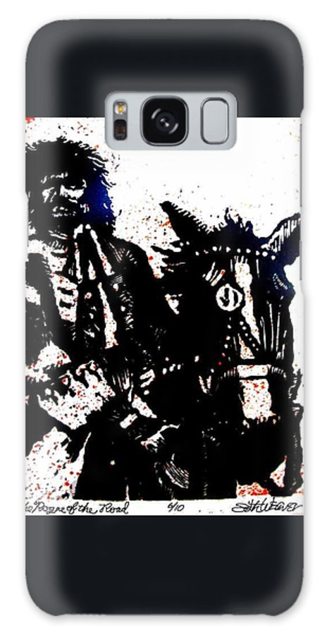 English Highwayman Galaxy S8 Case featuring the mixed media Rogue Of The Road by Seth Weaver