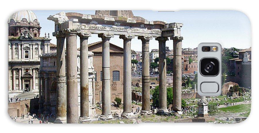 Roman Forum Galaxy S8 Case featuring the photograph Roman Forum by Ellen Henneke