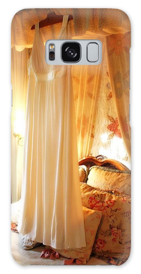 Gown Galaxy S8 Case featuring the photograph Romantic Bedroom by Valerie Loop
