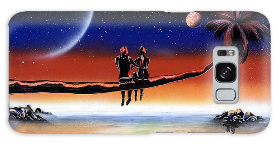 Galaxy S8 Case featuring the painting Romantic Night by Ronny Or Haklay