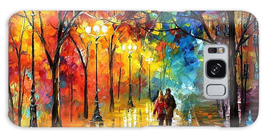 Oil Paintings Galaxy S8 Case featuring the painting Romantic Stroll - Palette Knlfe Oil Painting On Canvas By Leonid Afremov by Leonid Afremov