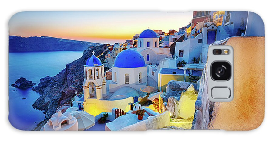 Greek Culture Galaxy Case featuring the photograph Romantic Travel Destination Oia by Mbbirdy