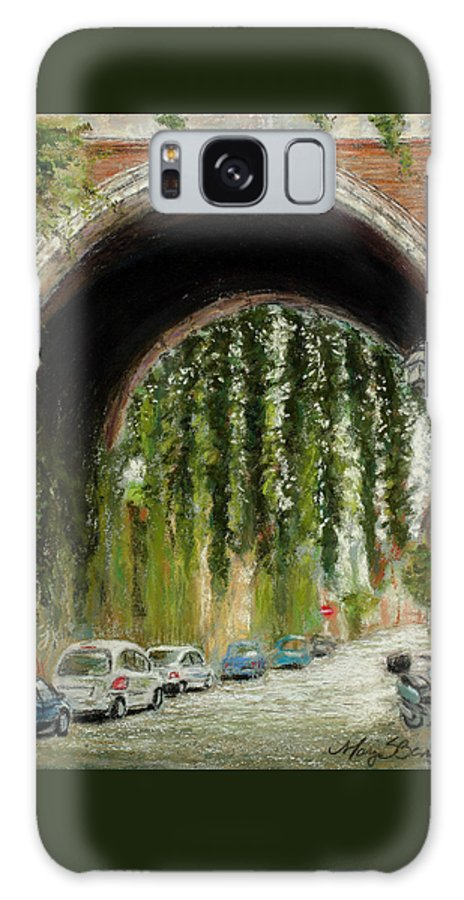 Pastel Galaxy S8 Case featuring the painting Rome Street Scene by Mary Benke