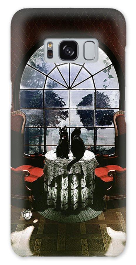 Room Galaxy S8 Case featuring the digital art Room Skull by Ali Gulec