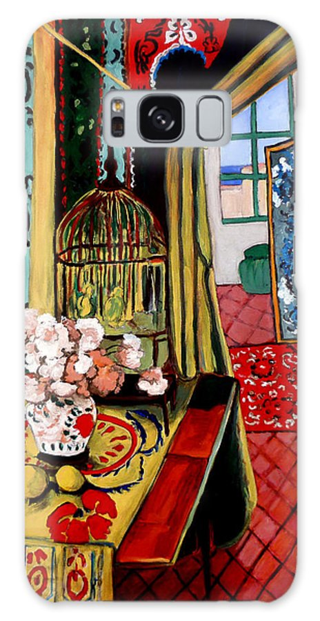 Room With A View Galaxy S8 Case featuring the painting Room With A View After Matisse by Tom Roderick