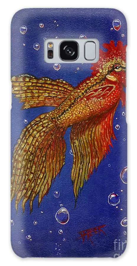 Sea Life Galaxy S8 Case featuring the painting Roosterfish II by Fred-Christian Freer