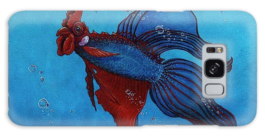 Roosterfish Galaxy S8 Case featuring the painting Roosterfish IIi by Fred-Christian Freer