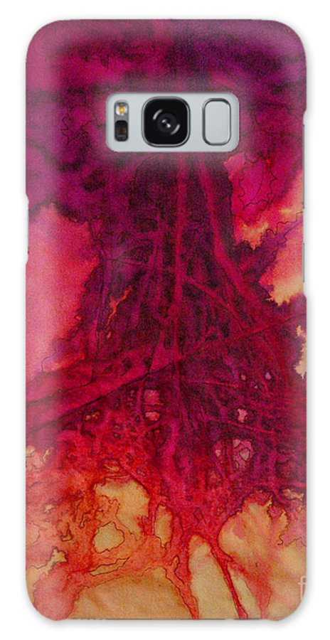 Silk Painting Galaxy Case featuring the painting Roots of Passon by Francine Dufour Jones